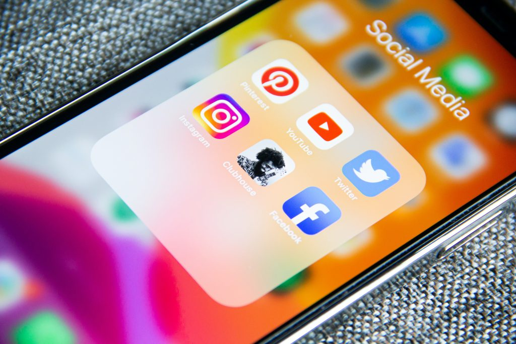 tecniche di web design icone social media