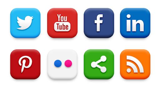 esempio e-commerce link ai social media