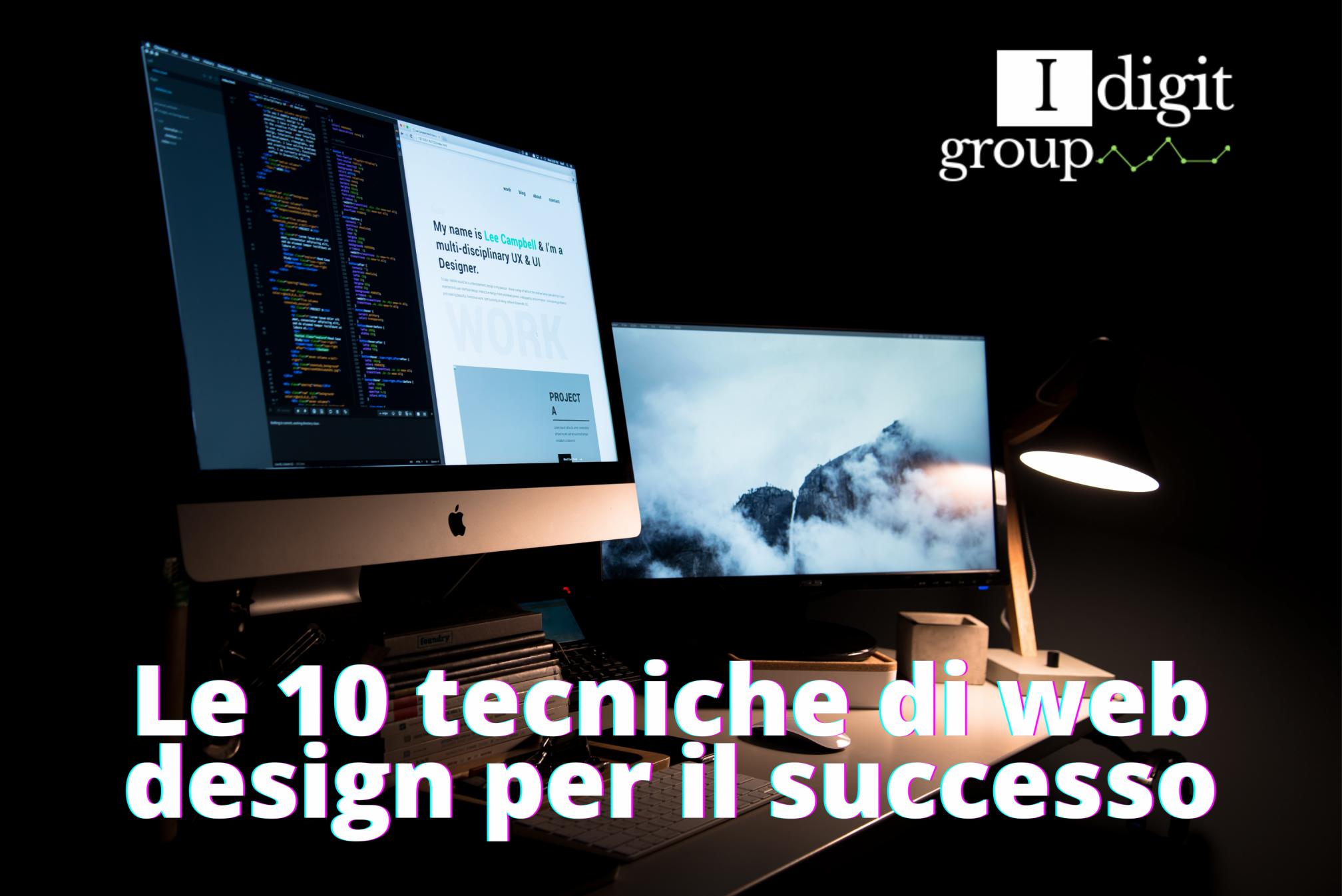 Le 10 tecniche di web design per il successo
